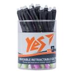 """Ручка гелевая YES пиши-стирай """"Calipso"""", 0,7мм, синяя, микс"""