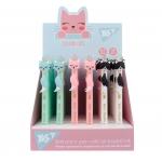 Ручка масляная YES «Color Cats» автоматическая, 0,7 мм, синяя