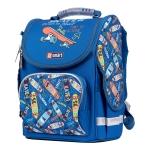 """Рюкзак школьный каркасный SMART PG-11 """"Skater"""", синий"""
