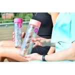 """Бутылка для воды YES с блестками """"Shine"""", 570мл, крышка персикового цвета"""