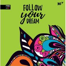 Блокнот 150*150 64 Б/линовки YES Интегральный Follow Your Dream