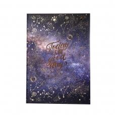 """Блокнот для записей А4/96 кл. 7БЦ, лам.софт-тач+фольга золото  """"STARS"""" YES"""