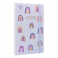 """Планер YES дата анг. """"Rainbow"""", тверд., 192 *132мм, 146 стр, стикеры"""