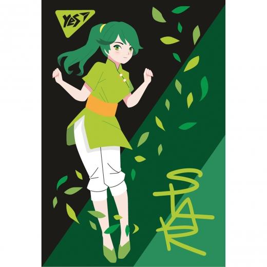 """Блокнот А7/48 кл клей YES """"Anime"""""""