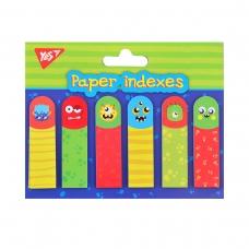 "Индексы бумажные YES ""Funny Monsters"", 50*15мм, 120 шт (6*20)"