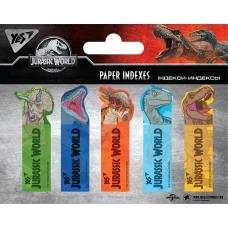 "Индексы бумажные YES ""Jurassic World"" 50x15мм, 100 шт (5x20)"
