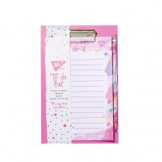 "Бумага для заметок YES To Do ""Hotch Potch"", клипборд с магнитом, карандаш, блок 52 листа"