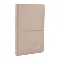 """Ежедневник 120*200 дат. """"Royal"""", мягк., иск.замш, 384 стр. + 2карты, пудрово-бежевый"""