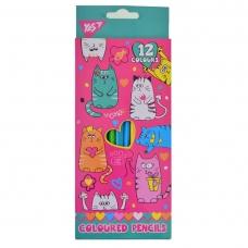 "Карандаши 12 цв. ""Lovely cats"""
