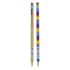 """Карандаш YES """"Rainbow"""" с четырехцветным грифелем, треугольный, заточен. микс"""