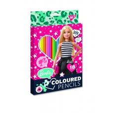 """Карандаши цветные YES 18 цв. """"Barbie"""""""