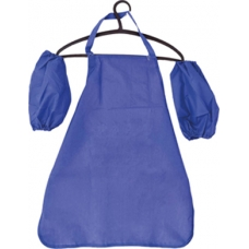 Фартушек для творчества с нарукавниками, 50*60 см, синий