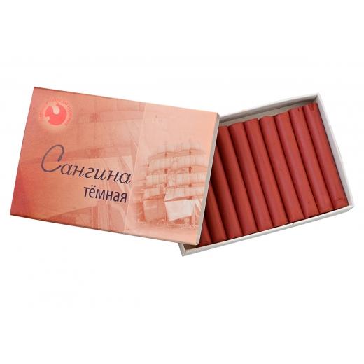 Сангина темная в  картонной коробке (10 шт.), Подольск-Арт.
