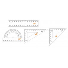Набор линеек YES (4 предм.), линейка 15 см