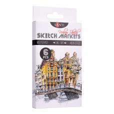 "Набор маркеров ""SANTI sketch"" ""Urban Sketch"", 6 шт./уп."