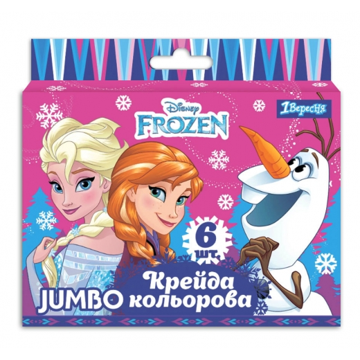 """Мел цветной 1Вересня JUMBO, 6 шт. """"Frozen"""""""