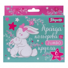 """Мел цветной 1Вересня 6 шт. JUMBO """"Bunny"""""""