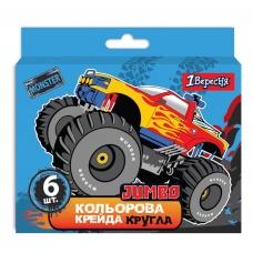 "Мел цветной 1Вересня 6 шт. JUMBO ""Monster Truck"""