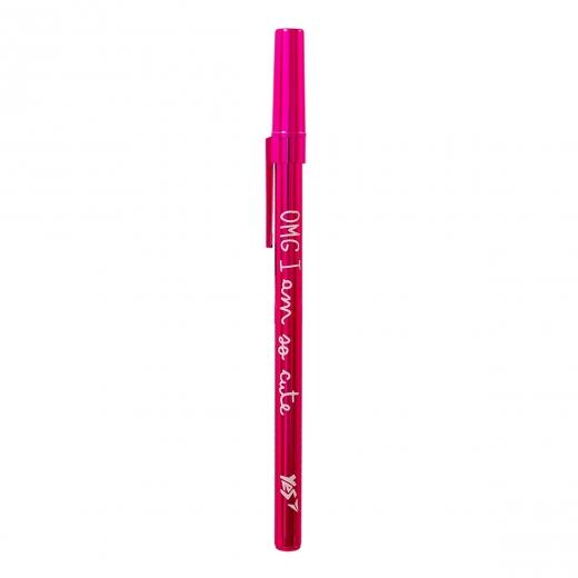 """Ручка шариковая YES """"Happy pen"""", роз., 1шт/уп."""