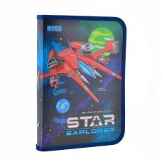 """Папка для тетрадей пласт. на молнии В5 """"Star Explorer"""""""
