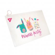 """Папка-конверт YES на молнии Check/Travel """"Princess party"""""""