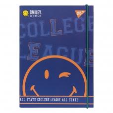 "Папка для тетрадей YES картонная В5 ""Smiley World.College"""