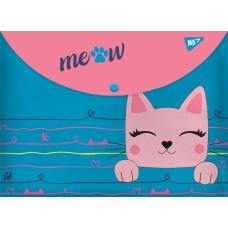 """Папка-конверт YES на кнопке А4 """"Cats"""""""