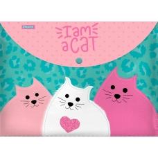 """Папка-конверт 1Вересня на кнопке А4 """"I am a cat"""""""