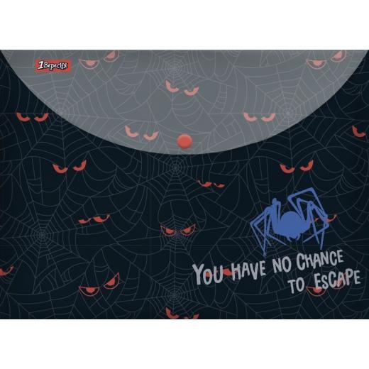 """Папка-конверт 1Вересня на кнопке А4  """"Spider"""""""