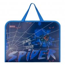 """Папка-портфель 1Вересня на молнии с тканевыми ручками """"Spider"""""""