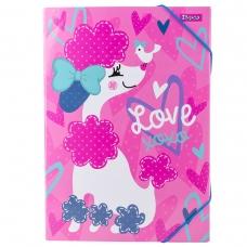 """Папка для труда 1 Вересня картонная А4 """"Love XOXO"""""""