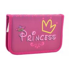Пенал твердый одинарный с клапаном Princess, 20.5*13*3.2