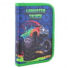 Пенал твердый одинарный с клапаном Monster truck, 20.5*13*3.2