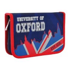 """Пенал твердый YES одинарный с двумя клапанами HP-04 """" Oxford"""""""