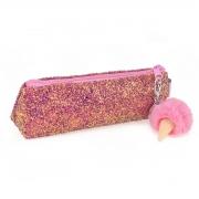 "Пенал-косметичка с пайетками ""Ice-Cream"", розовая"