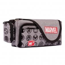 """Пенал мягкий YES PH-3-2  """"Marvel.Avengers"""", серый"""