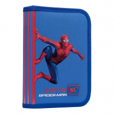 """Пенал твердый YES одинарный с клапаном HP-03  """"Marvel.Spider-Man"""", синий"""