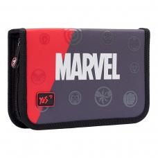 "Пенал твердый YES одинарный без клапана HP-02  ""Marvel.Avengers"", серый/красный/черный"