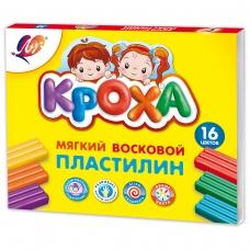 """Пластилин мягкий """"Кроха"""" 16 цв. 240 г 28С1646-08 к/к, со стеком"""