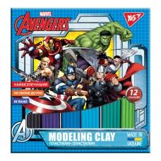 """Пластилин YES """"Marvel.Avengers"""", 12 цв., 240г"""
