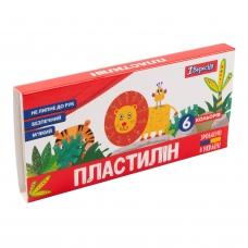 """Пластилин 1Вересня """"Zoo Land"""", 6 цв., 120г, Украина"""