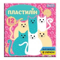 """Пластилин 1Вересня 12 цв. """"I am a cat"""", Украина"""
