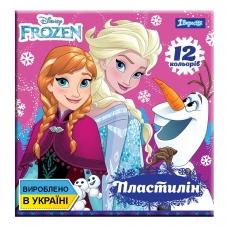 "Пластилин 1Вересня 12 цв. ""Frozen"", Украина"