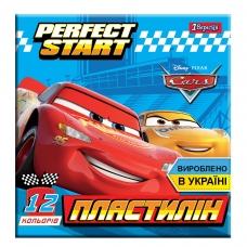 """Пластилин 1Вересня 12 цв. """"Cars"""", Украина"""
