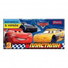 """Пластилин 1Вересня 6 цв. """"Cars"""", Украина"""