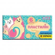 """Пластилин 1Вересня 6 цв. """"I am a cat"""", Украина"""