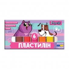"""Пластилин 1Вересня """"Best Friend"""", 6 цв., 120г, Украина"""