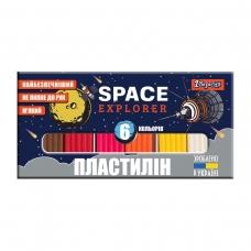 "Пластилин 1Вересня ""Space"", 6 цв., 120г, Украина"