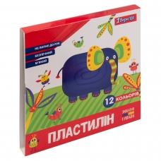 """Пластилин 1Вересня """"Zoo Land"""", 12 цв., 240г, Украина"""