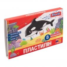 """Пластилин 1Вересня """"Zoo Land"""", 8 цв., 160г, Украина"""